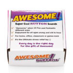 The Original Awesome Button retail box front top view