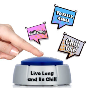 chill button desk toy fun