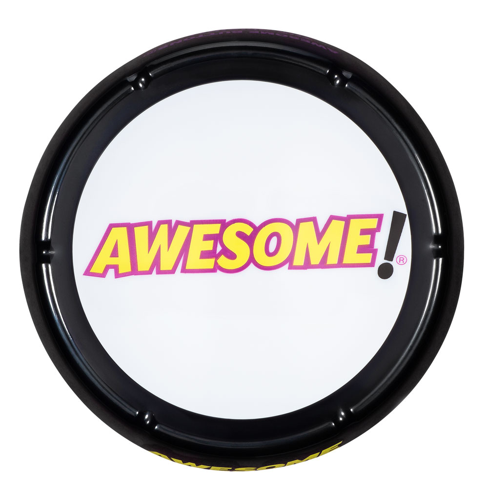 The Awesome Button Desk Toy top