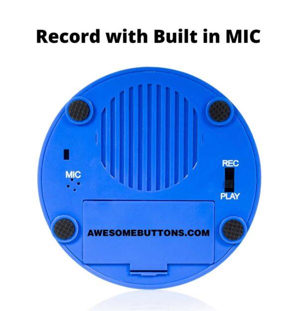 Record Me Button bottom blue