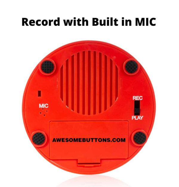 Record Me Button bottom red