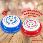 Record Me Button Cheerful Design Red