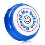Record Me Button vertical blue
